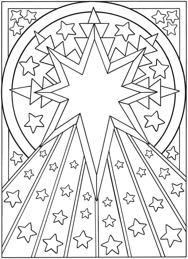 Stars Design Coloring Page