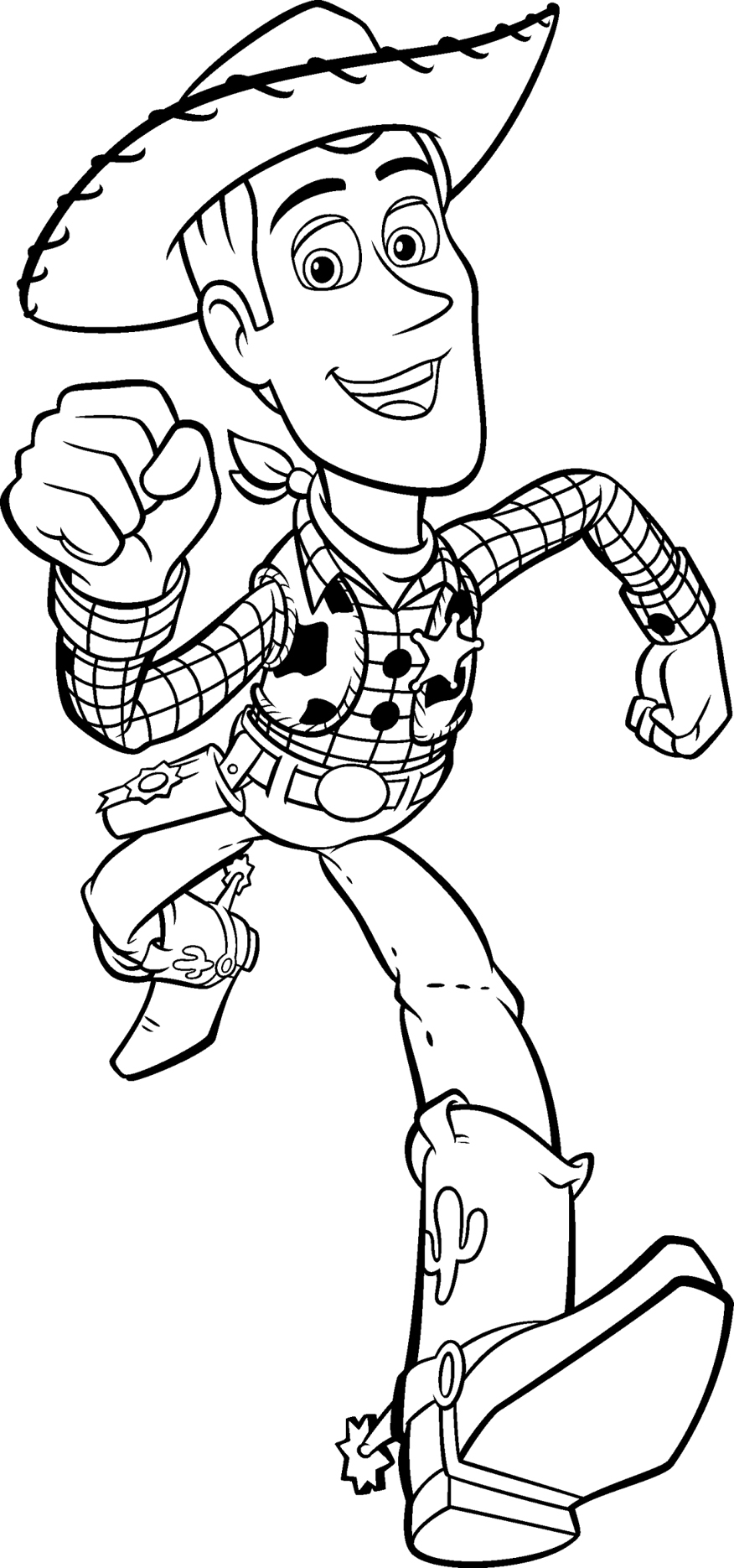 Free Printable Toy Story 4 Jessie PDF Coloring Pages | 1870x876