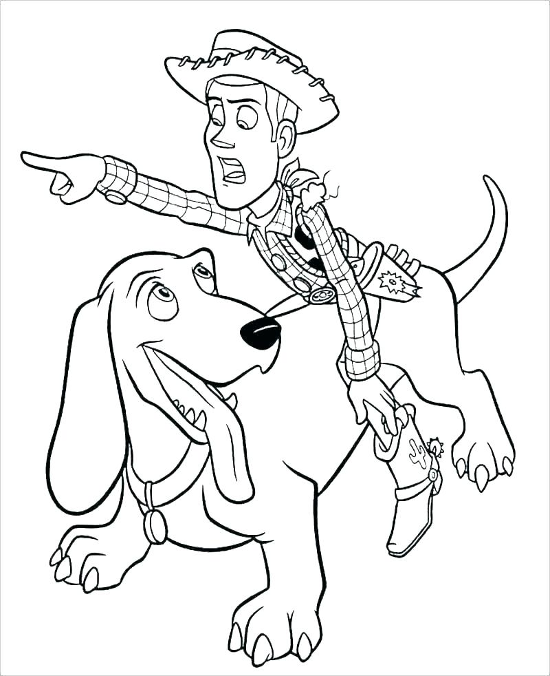 Printable Toy Story Woody Bullseye Coloring pages | Toy story ... | 982x800