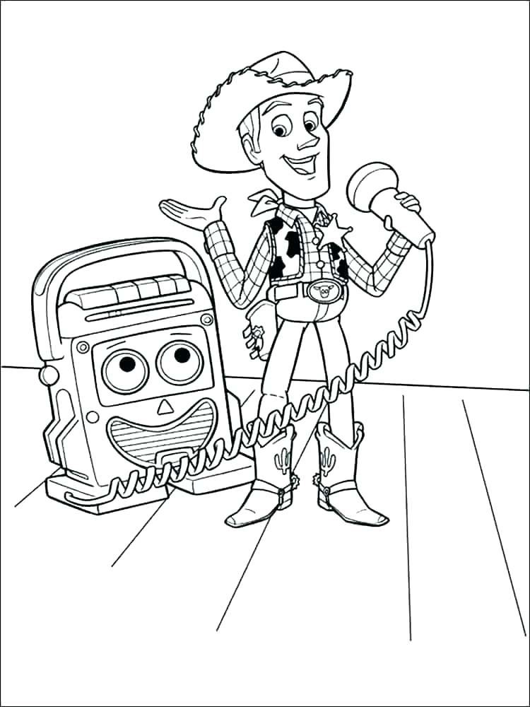 Woodys Announcement Coloring Page