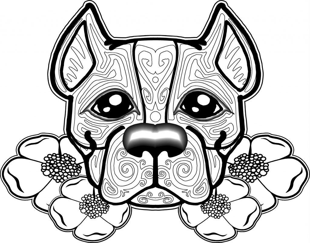 Zen Pitbull Coloring Page