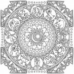 Zodiac chart Mandala Coloring Page For Adults