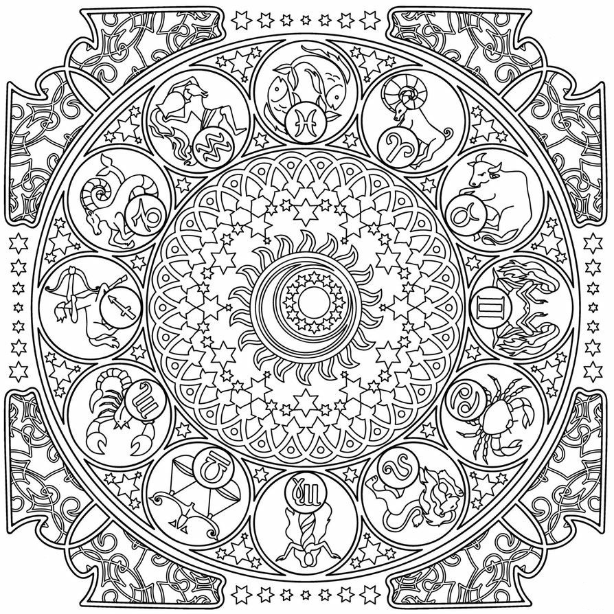 Zodiac Coloring Pages Best Coloring Pages For Kids