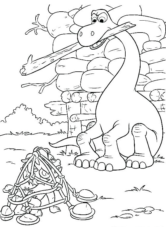 Arlo Helps Spot Good Dinosaur Coloring Pages