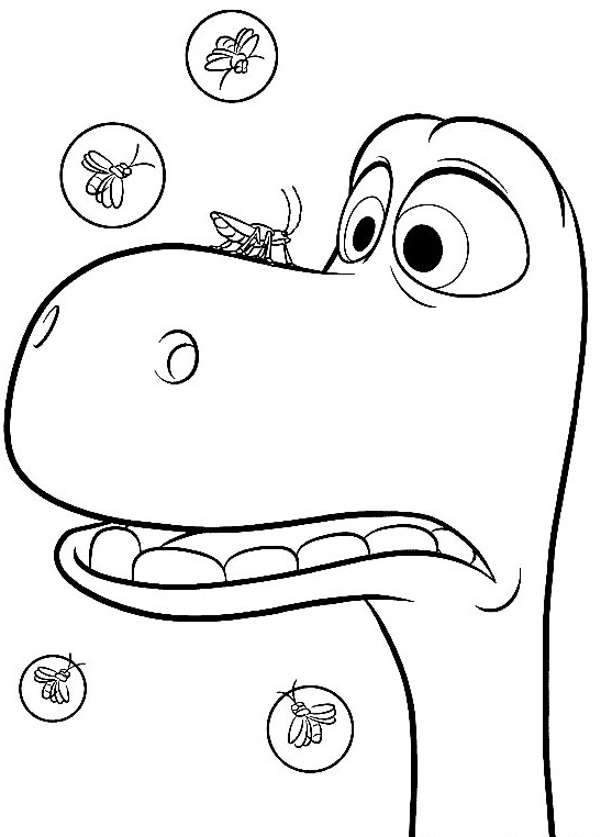 Arlo Meets Bugs Good Dinosaur Coloring Pages