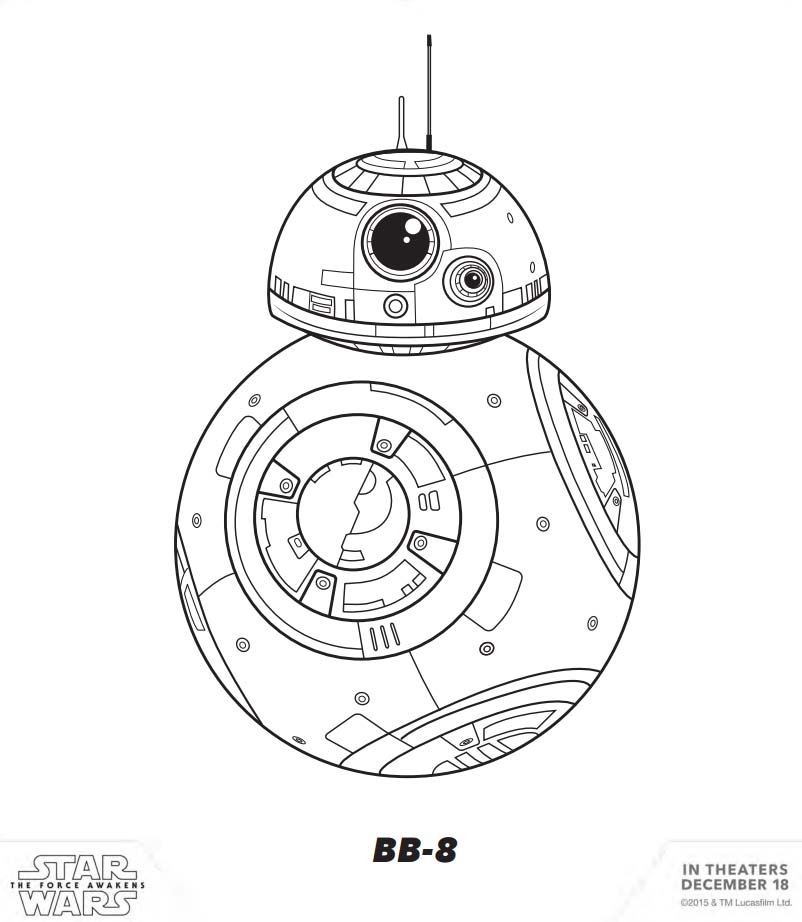 BB-8 Star Wars Coloring Pages