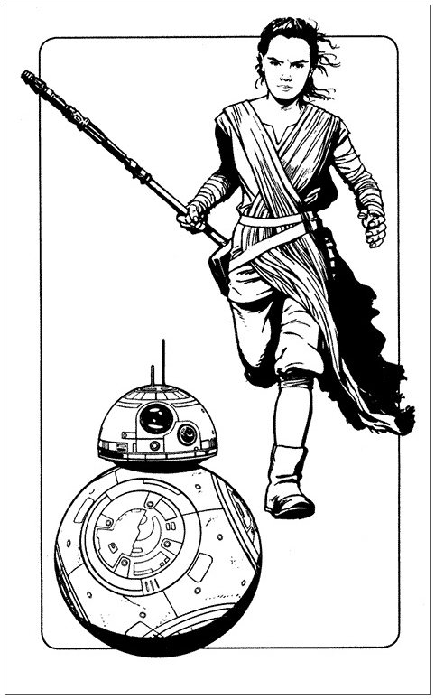 Bb8 And Rey Coloring Page