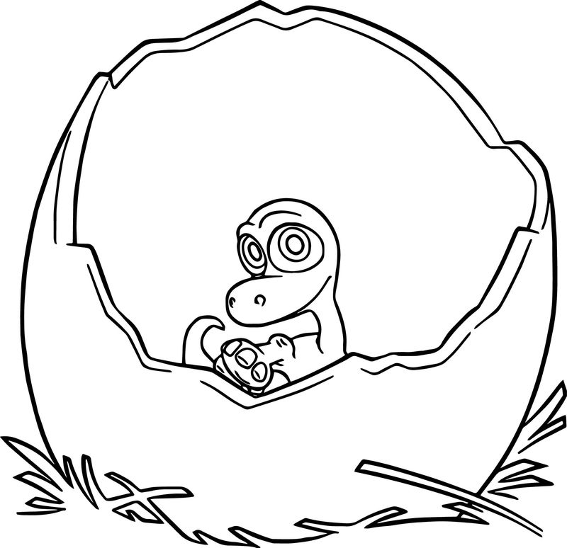 Baby Arlo Good Dinosaur Coloring Pages