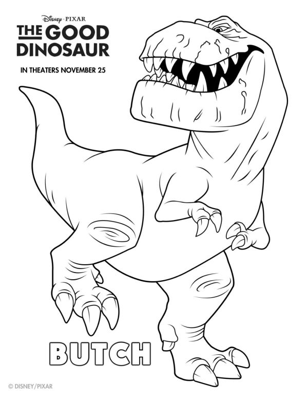Butch Good Dinosaur Coloring Pages
