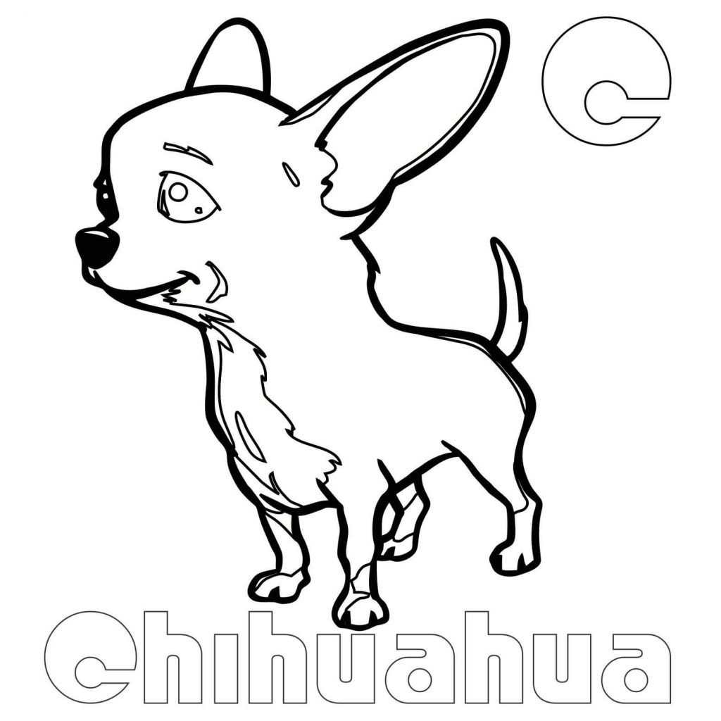 C for Chihuahua Coloring Page