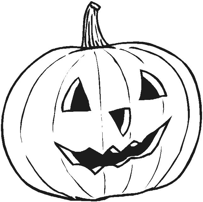 Carved Halloween Pumpkin Coloring Pages