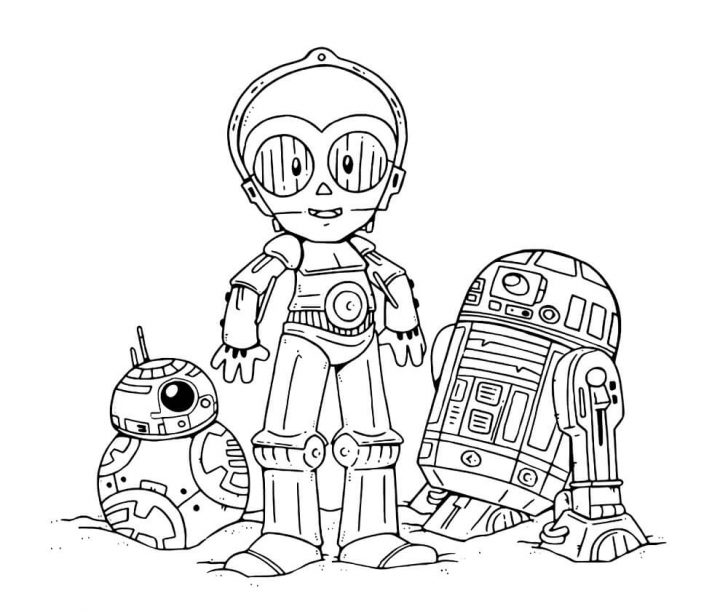 Chibi Droids Star Wars Coloring Page