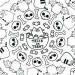 Cute Halloween Coloring Page Pattern