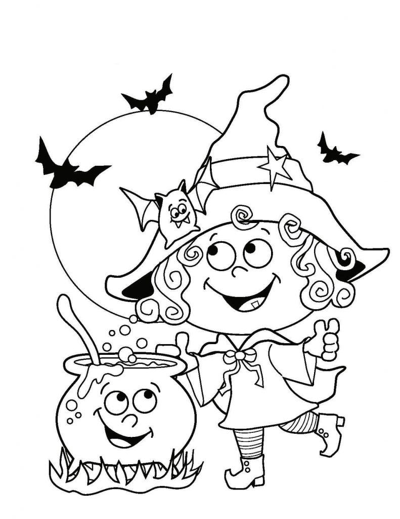 Cute Halloween Coloring Page Printables