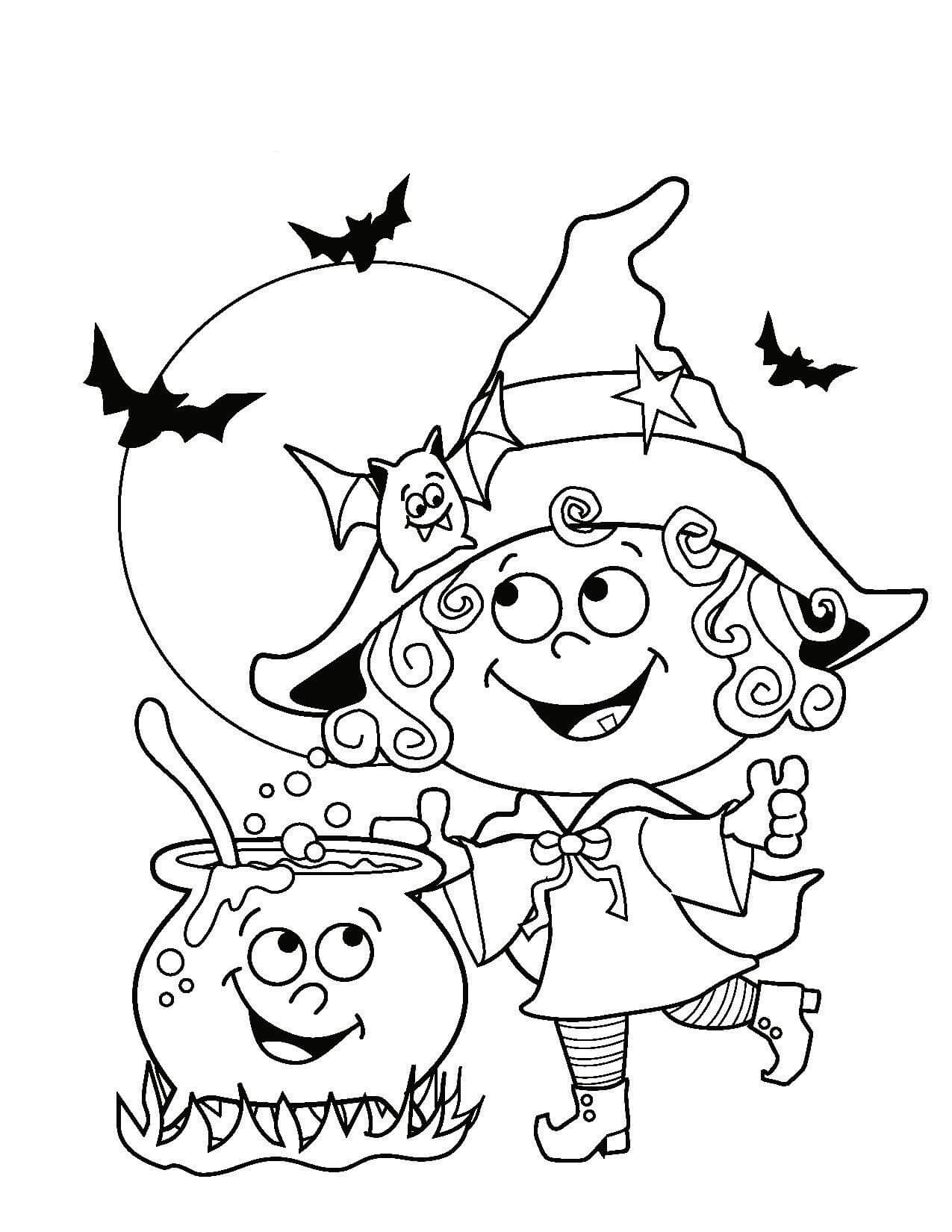 Cute Halloween Coloring Pages - Best Coloring Pages For Kids