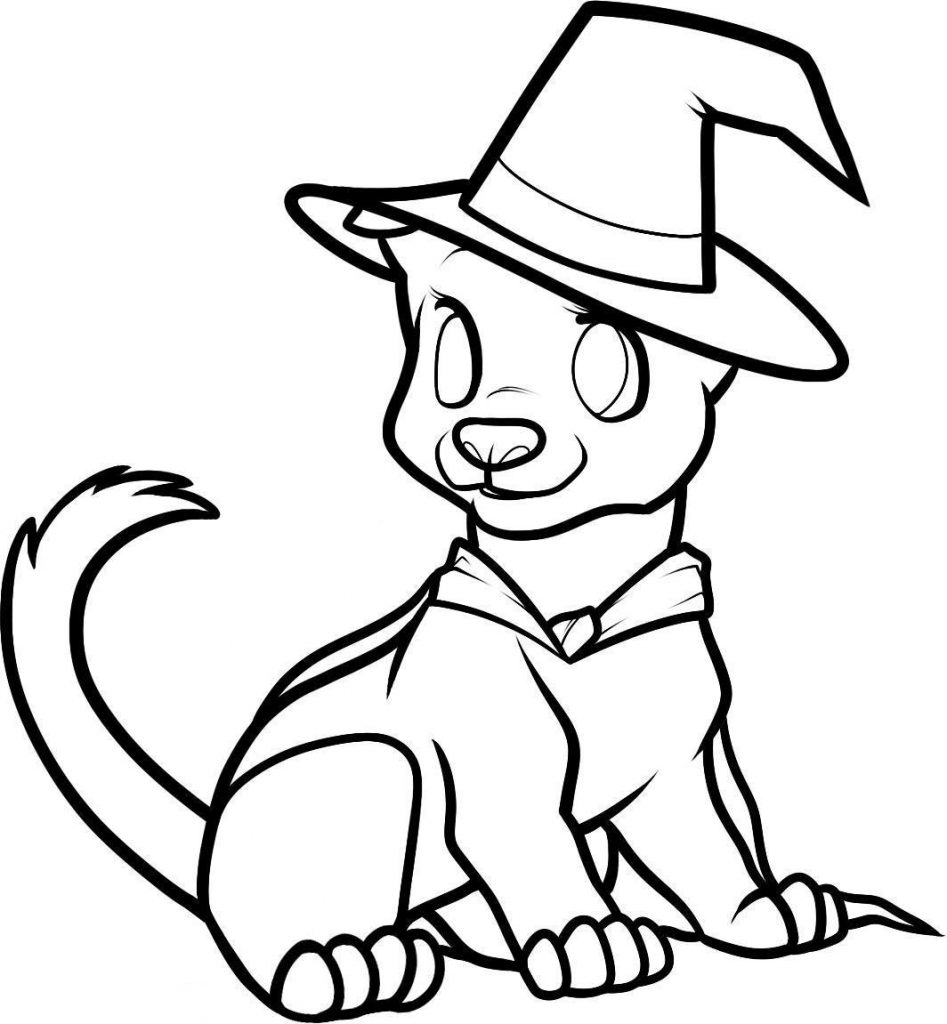 Cute Puppy Halloween Coloring Pages