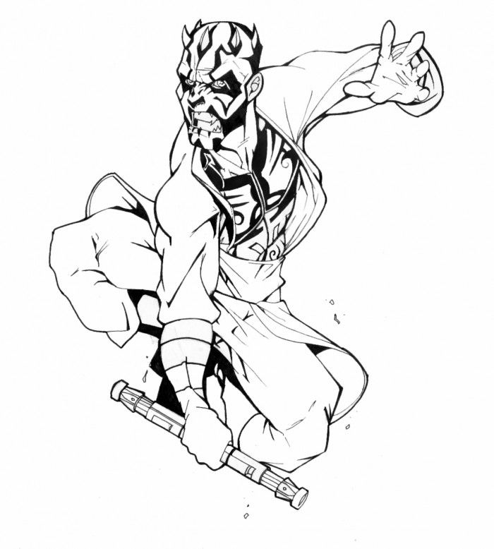 Darth Maul Sith Coloring Pages