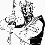 Darth Maul Star Wars Coloring Pages