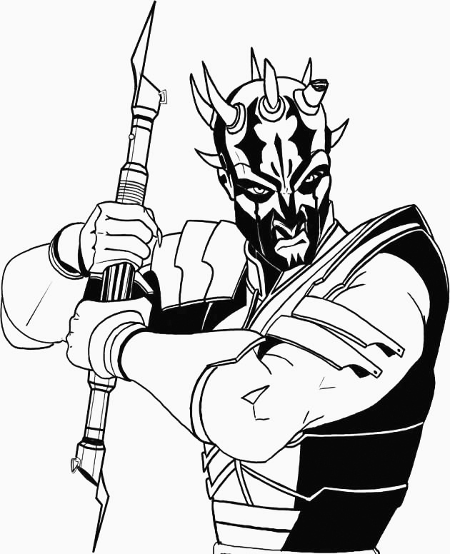 Darth Maul Coloring Pages Best Coloring Pages For Kids