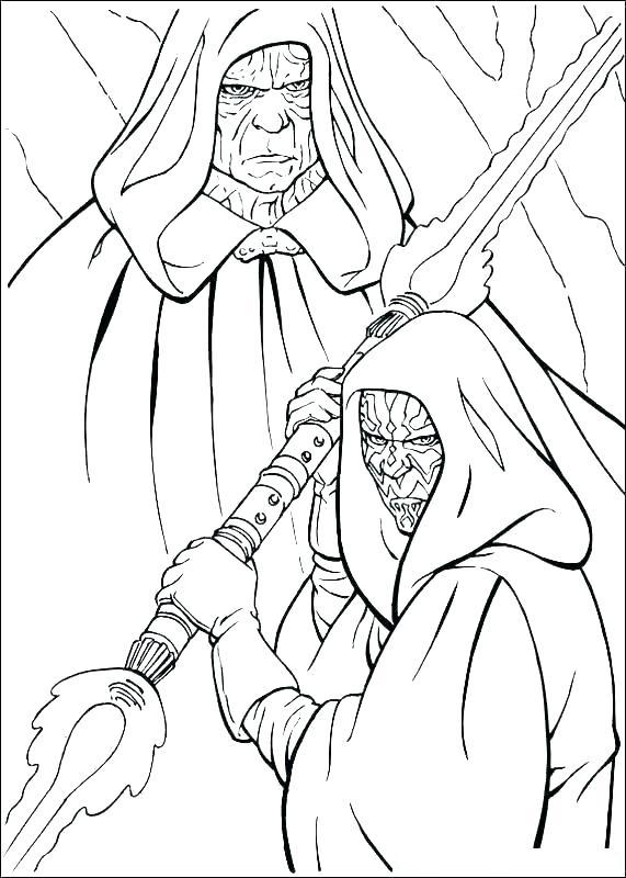 Darth Sidius And Maul Coloring Page