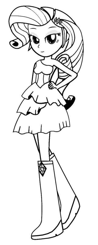 Egirls Rarity Coloring Page