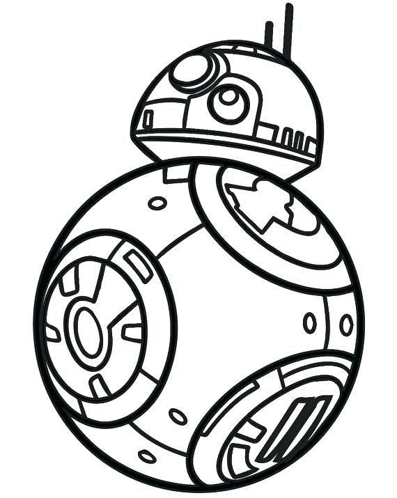 Easy Bb8 Coloring Page