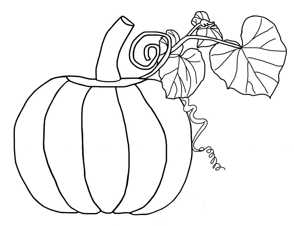 Easy Halloween Pumpkin Coloring Page