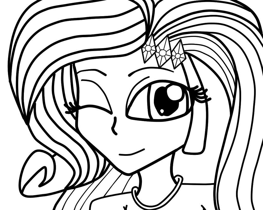 Equestria Girls Coloring Page Rarity