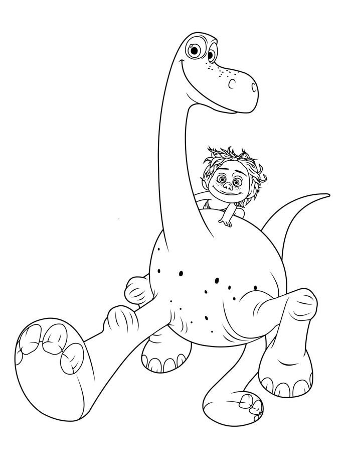 Good Dinosaur Characters Coloring Pages