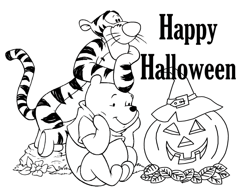 Disney Halloween Coloring Pages - Best Coloring Pages For Kids