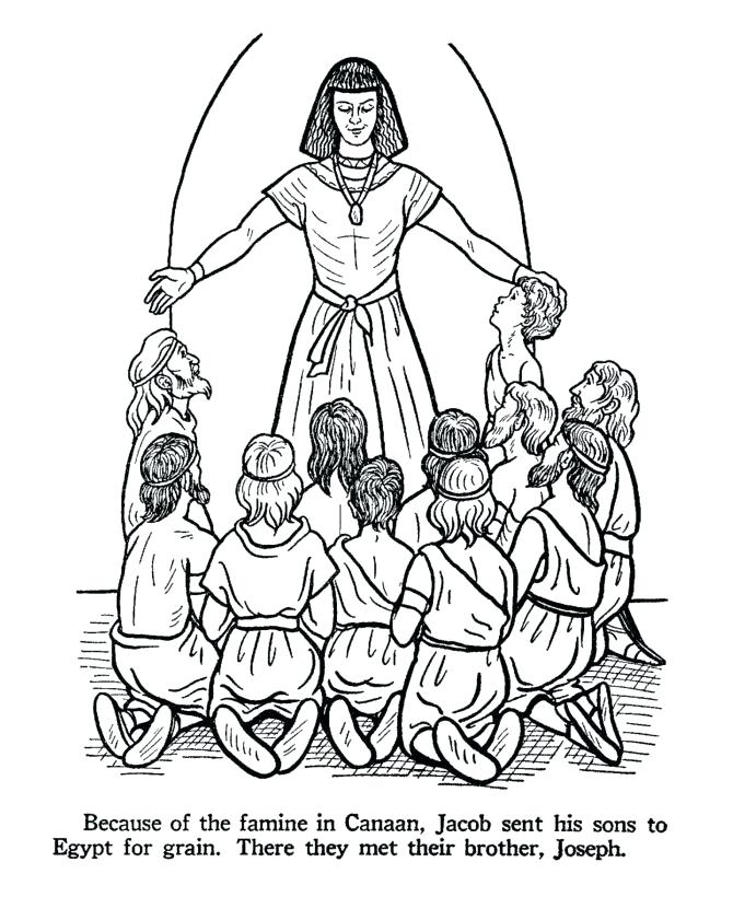 Jacobs Sons Bible Coloring Page