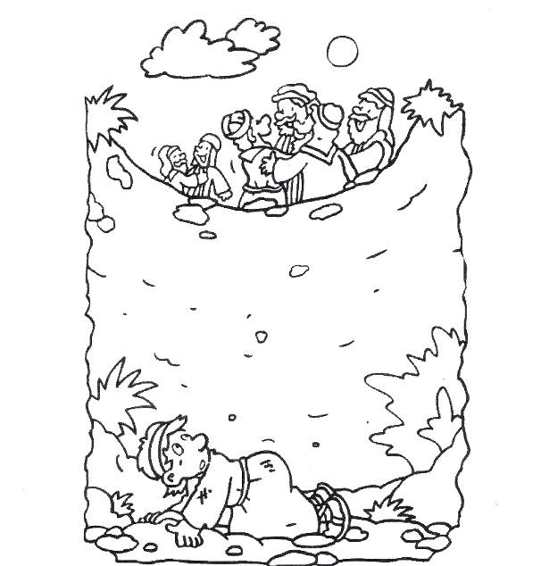 Joseph Thrown In Pit Coloring Page