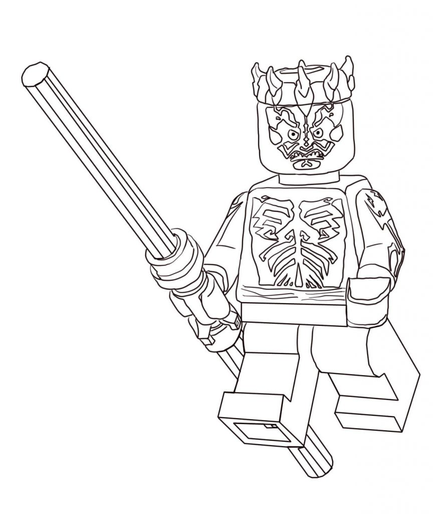 Lego Darth Maul Coloring Pages