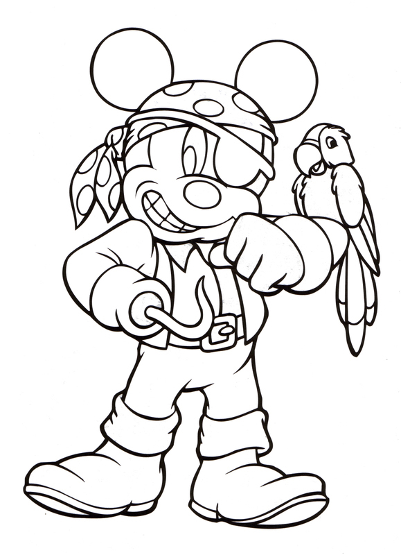 Mickey Mouse Halloween Coloring Pages