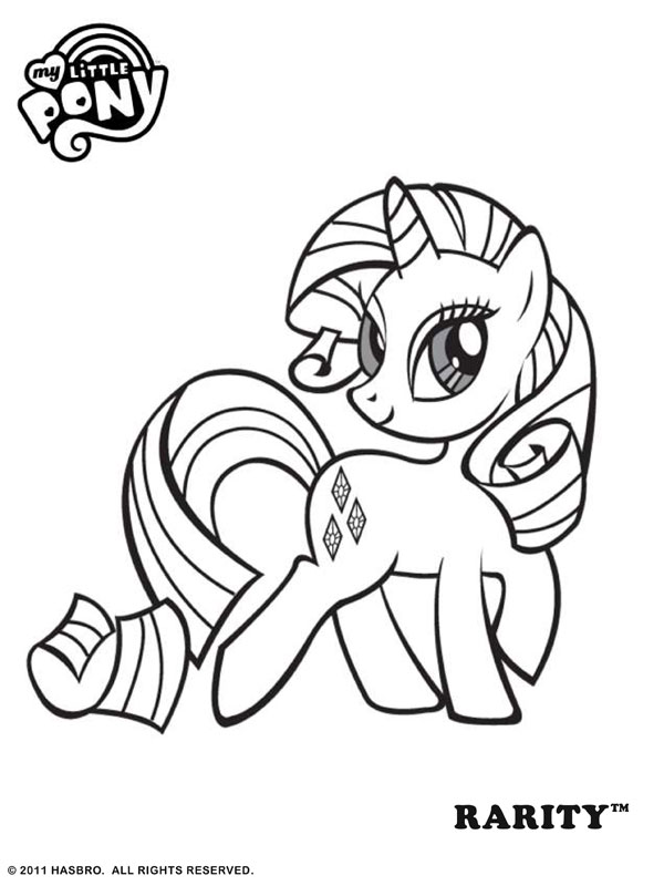 My Little Pony Rarity Coloring Pag
