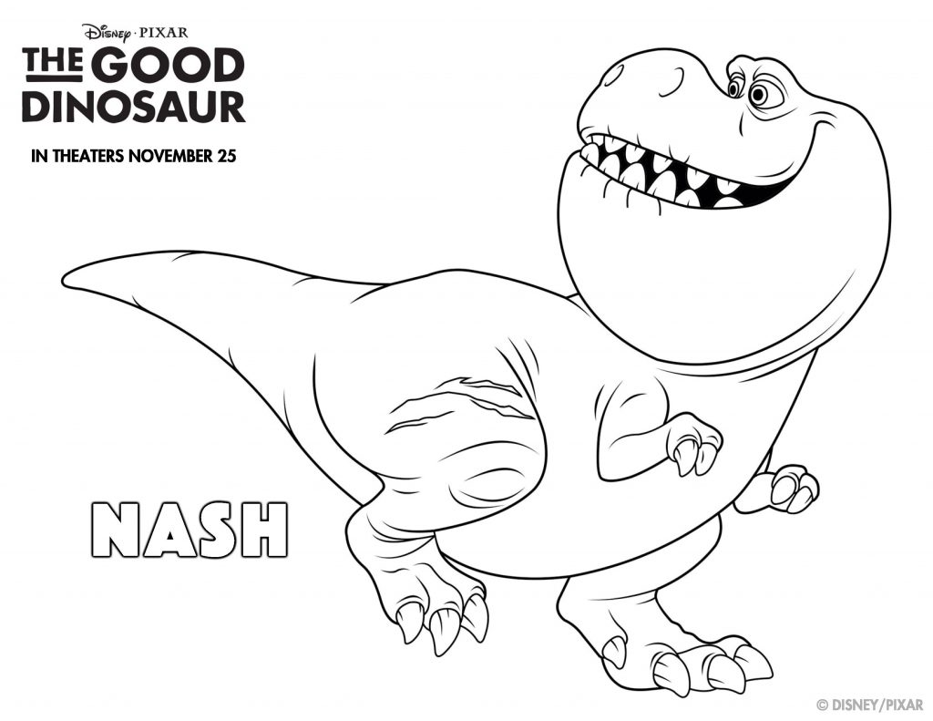 Nash Good Dinosaur Coloring Pages