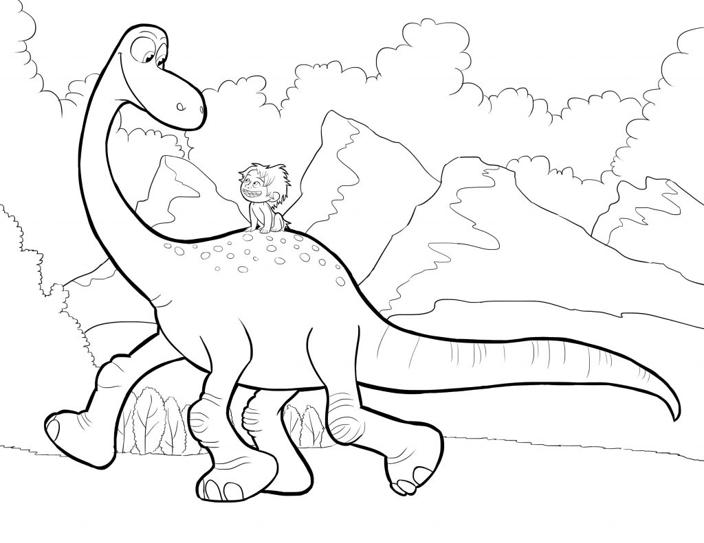 Print Good Dinosaur Coloring Pages