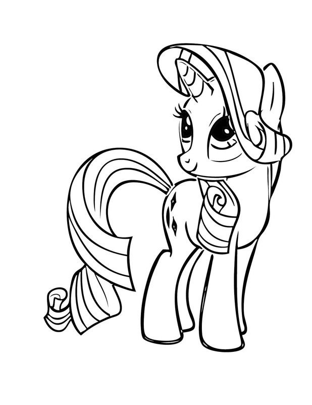 Printable Rarity Coloring Pages