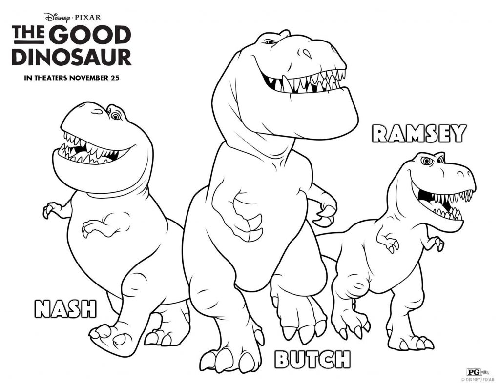 Ramsey Nash Butch Good Dinosaur Coloring Pages