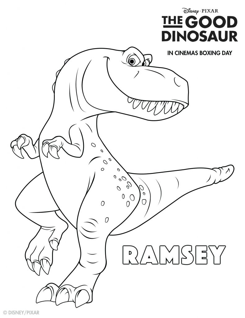 Ramsey The Good Dinosaur Coloring Pages