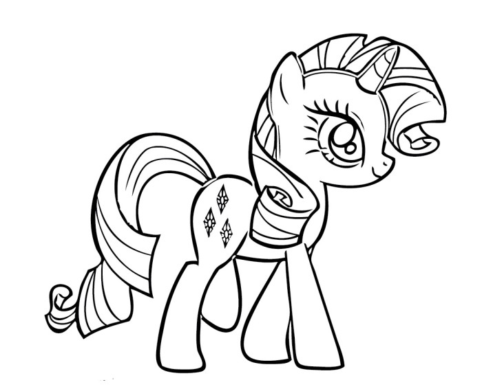 Rarity Coloring Page Printable