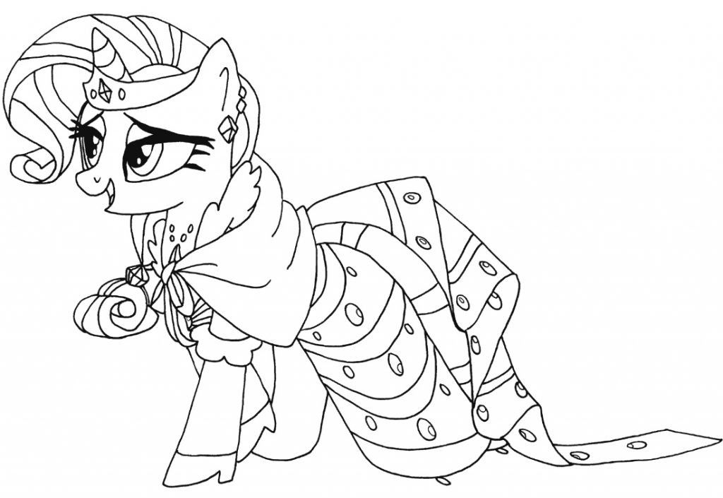 Rarity Costume Coloring Page