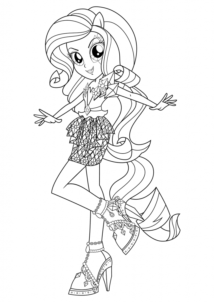Rarity Equestria Girls Coloring Pages