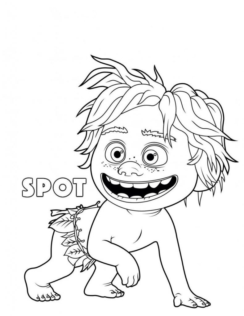 Spot Good Dinosaur Coloring Pages