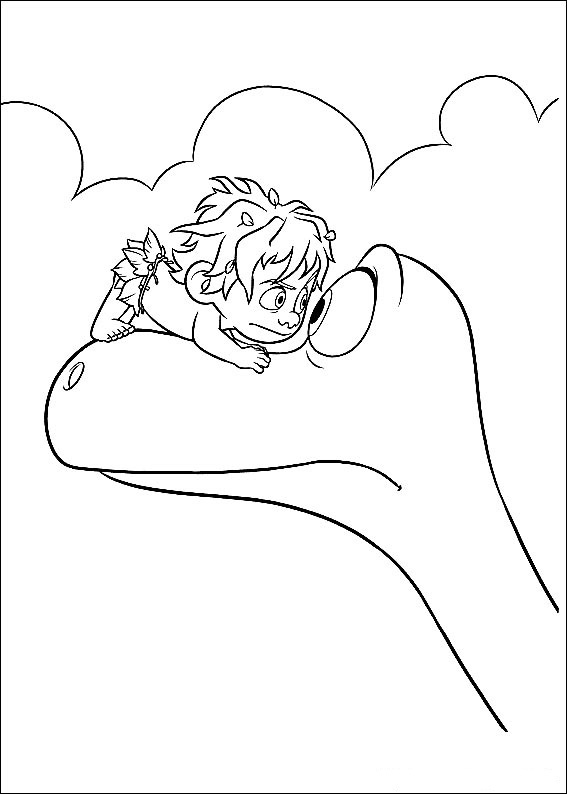 Spot And Arlo Good Dinosaur Coloring Page