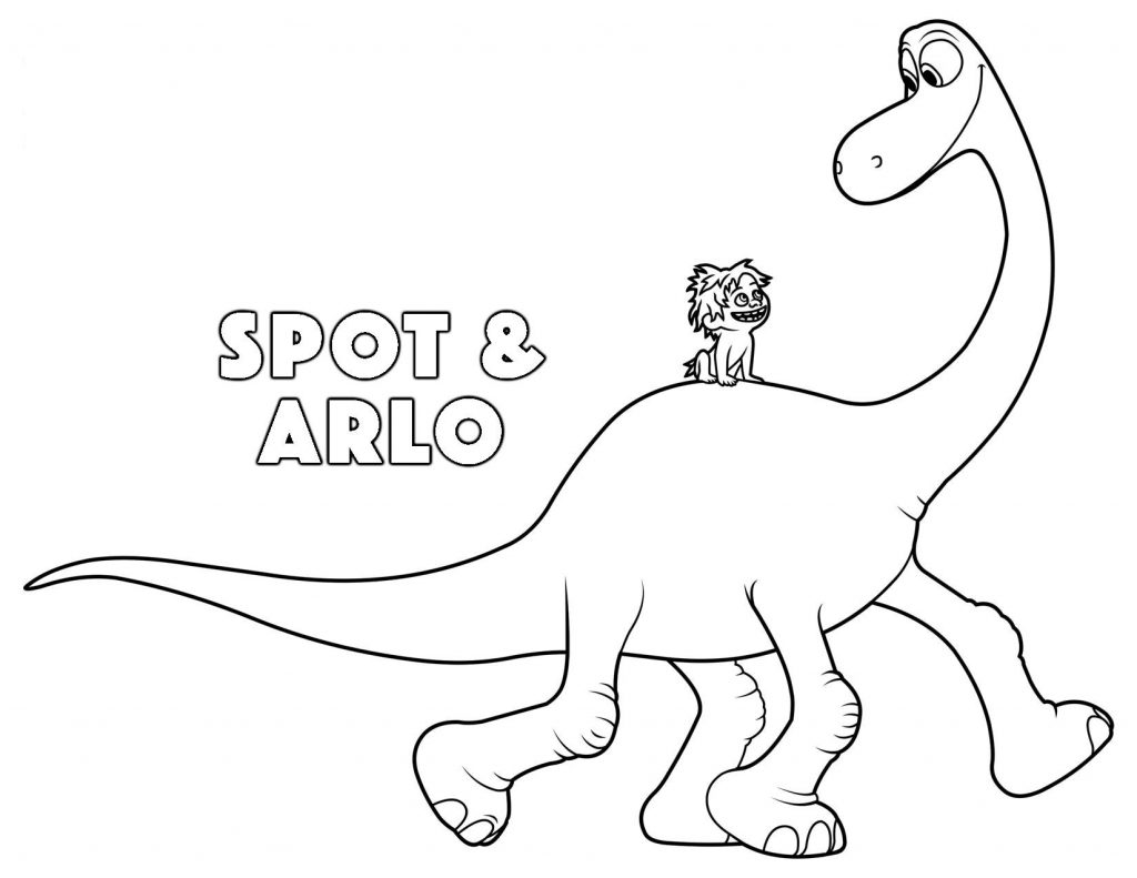 Spot And Arlo Good Dinosaur Coloring Pages