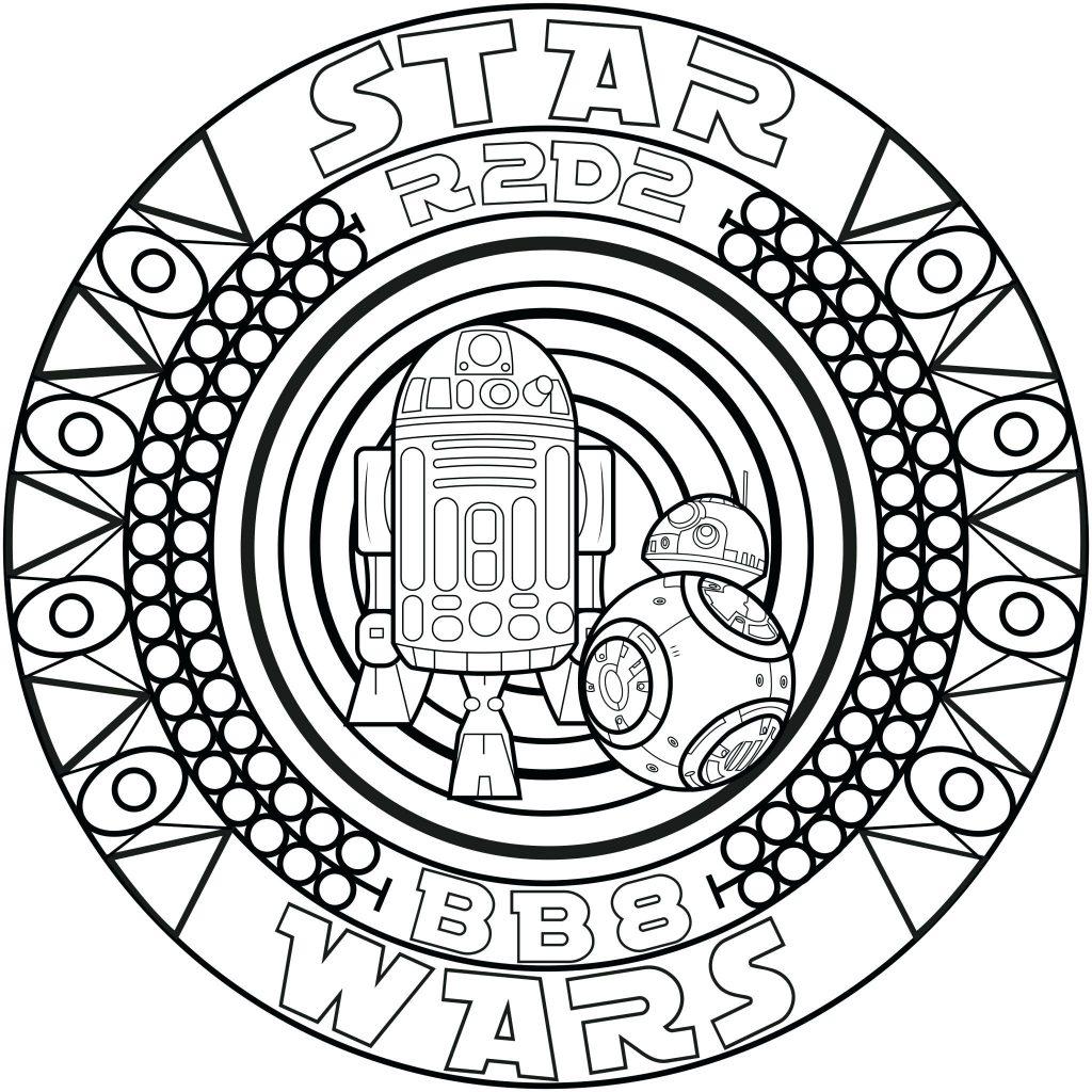 Star Wars Bb8 Mandala Coloring Page