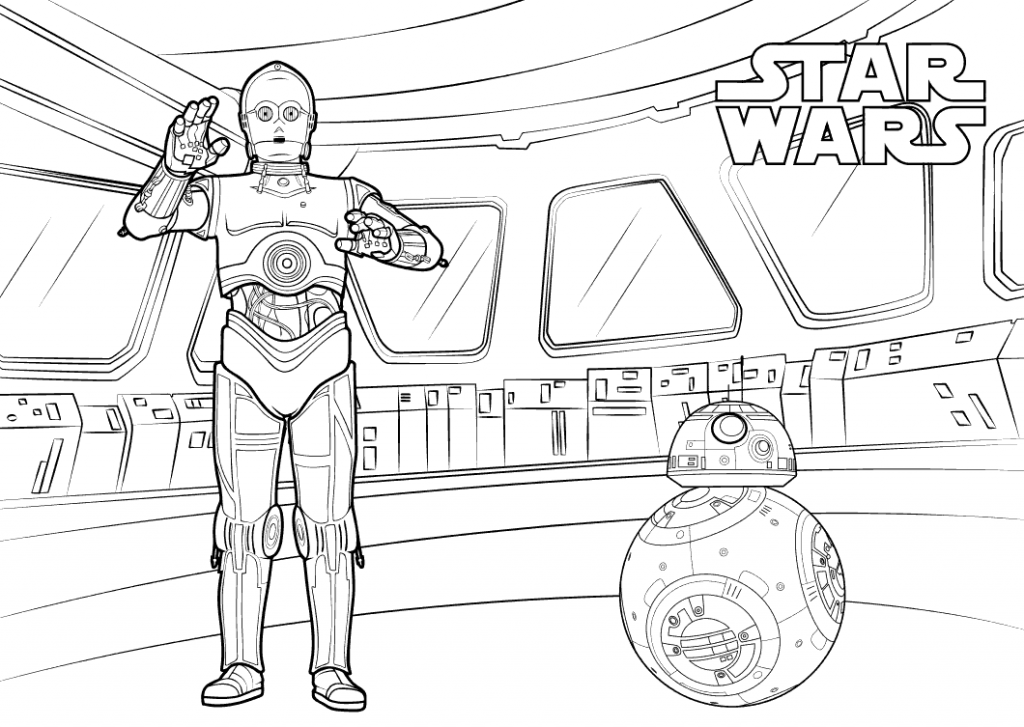 Star Wars C3po And Bb8 Coloring Page