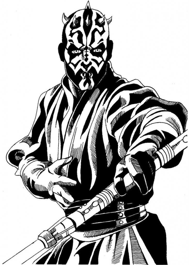 Star Wars Darth Maul Coloring Page