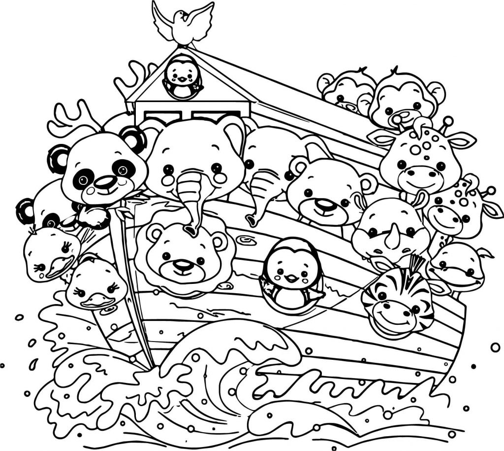 Animals On Noahs Ark Coloring Pages